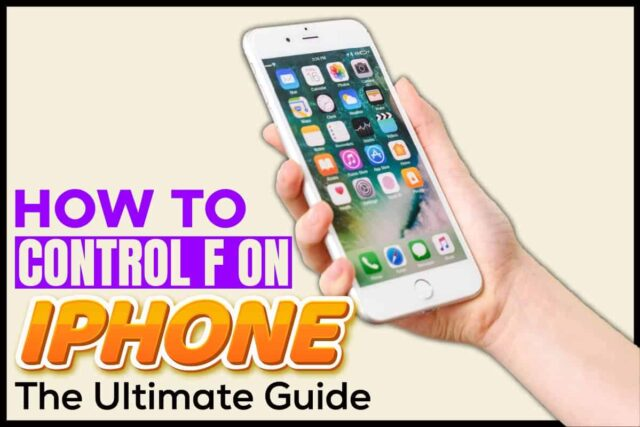 How to control F on iPhone