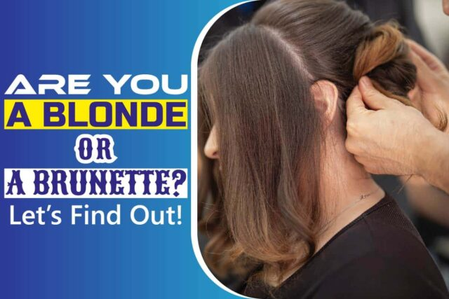 Are You a Blonde or a Brunette