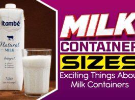 Milk Container Sizes